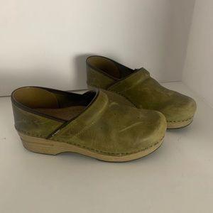 Dansko Olive Green Clogs